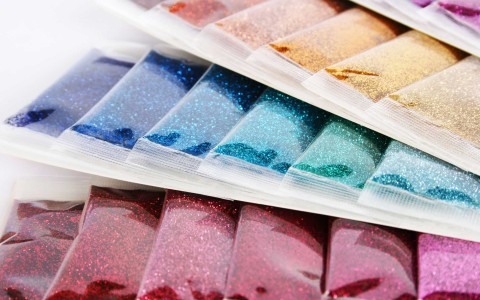 Glitters, Shimmers, Diamantinas y Sparkles para Serigrafía Textil
