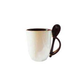 Taza con Cuchara Café 11 oz pza