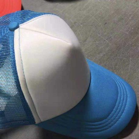 Gorra Poliéster Tipo Trucker, Bicolor Azul Cielo, Unitalla pza