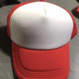 Gorra Poliéster Tipo Trucker, Bicolor Rojo, Unitalla pza